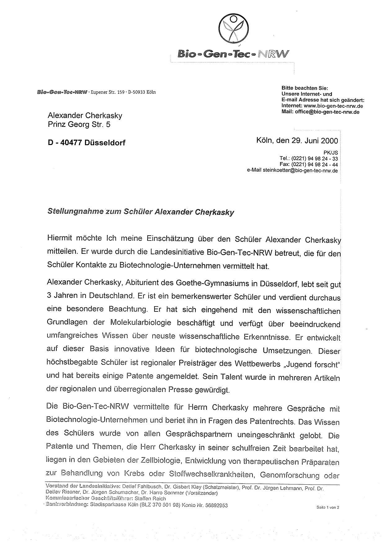 Resume Bio Gen Tech Nrw Ultrabiotech